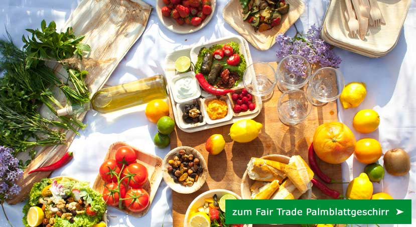 Fair Trade Palmblattgeschirr