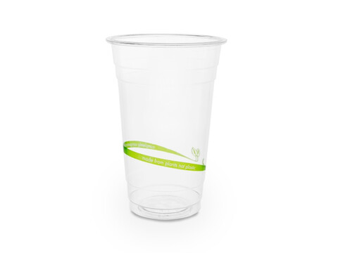 PLA Bio Klarbecher 500 ml/20oz, Ø 9,6 cm Eco Print