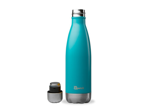 Qwetch nomade Thermosflasche 500 ml aus Edelstahl, BPA frei, matt turquoise
